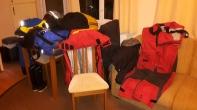 Natte zeilkleding in de caravan