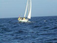 Gepke IV op de Noordzee richting Kirkwall